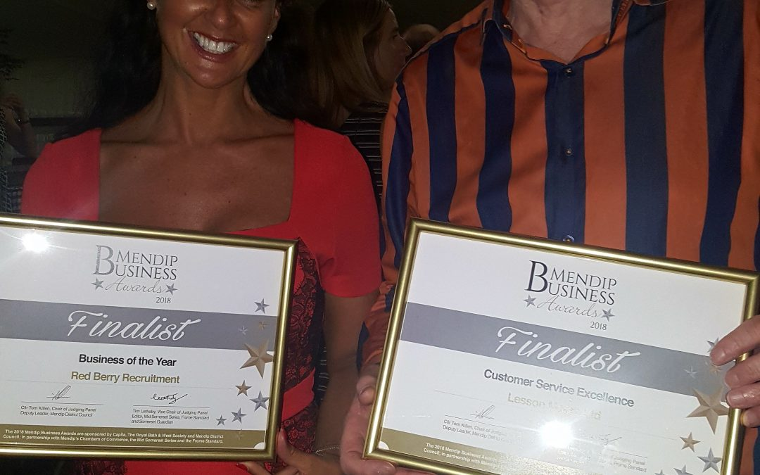 Recognition but no cigar at Mendip Business Awards